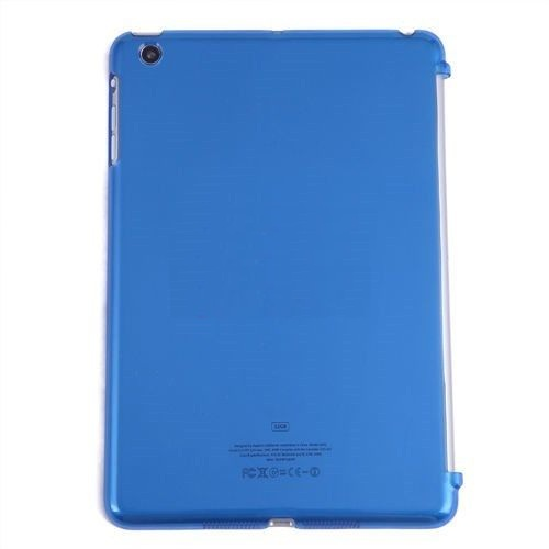 Crystal Clear tpu Back Case Smart Cover for iPad Mini - Baby Blue