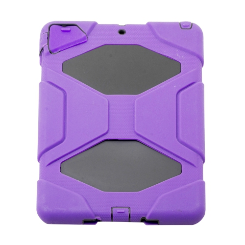 Heavy Duty Protective Case Cover for Apple iPad Air - Purple