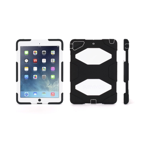 Heavy Duty Protective Case Cover for Apple iPad Air - White