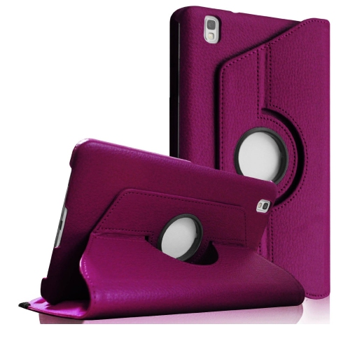 360 Rotating Leather Portfolio Case Cover For Samsung Galaxy Tab Pro 8.4 - Purple