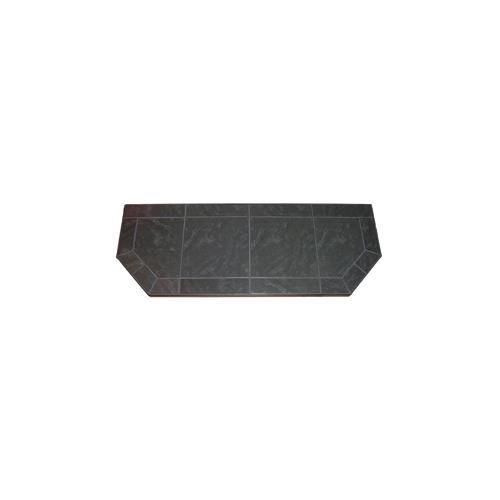 Kalvin International SP9-1228 12 x 48 Inch Hearth Extension - Powder Coated Steel Edge