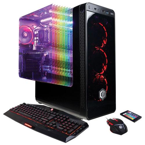 CyberPowerPC Gamer Master PC (AMD Ryzen 5/2TB HDD/120GB SSD/16GB RAM/NVIDIA GeForce GTX 1050 Ti)-Eng
