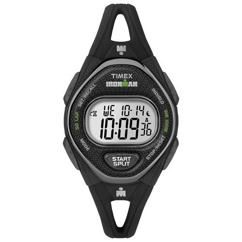 Montre sport numérique 42 mm avec chronographe IRONMAN pour femmes de Timex - Noir