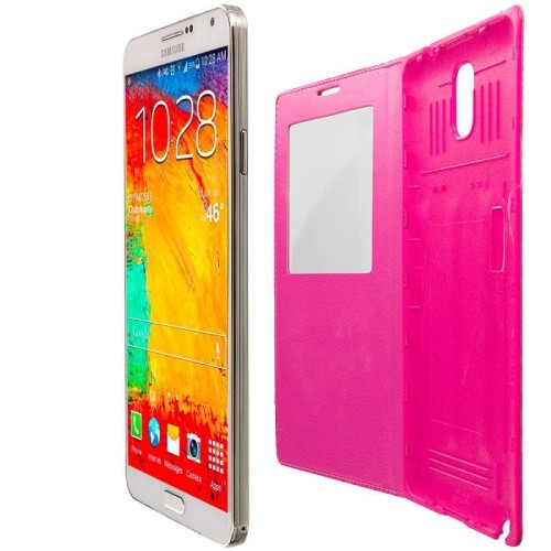 Samsung Flip Cover for Galaxy Note 3 - Hot Pink