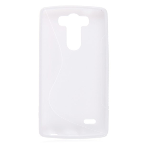 S-Line S Shape TPU Rubber Clear Gel Case Cover Skin for LG G3 -White
