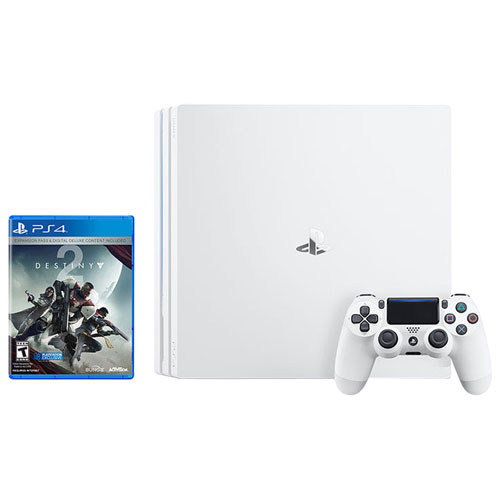 Ensemble Playstation 4 Pro 1 To édition Glacier White avec Destiny 2