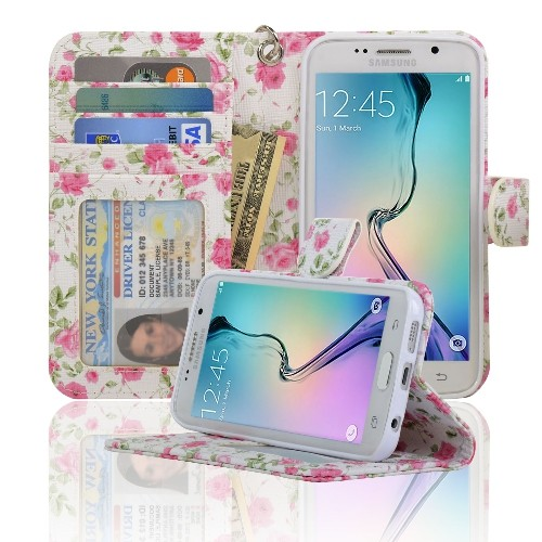 buy popular 9d97a 5fc7e Navor Wallet Case for Samsung Galaxy S6 Edge - Rose