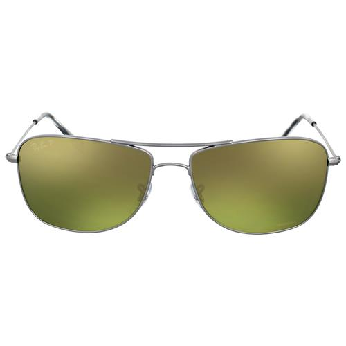 e1df47ddd0d Ray Ban Gunmetal Polarized Green Mirror Chromance Sunglasses ...