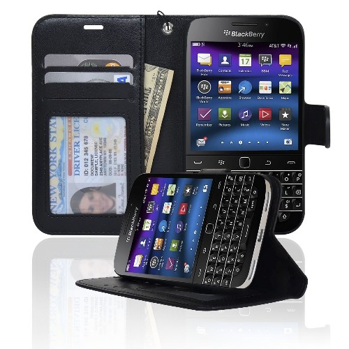 Navor Wallet Case for Blackberry Classic - Black