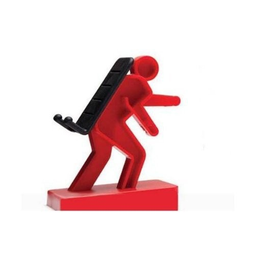 Creative Mobile Phone Stand/ Holder for IPhone/ IPod/ Mp3/ Touch - Red