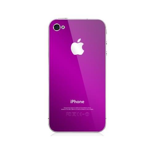 iphone 4 back - Metallic Purple