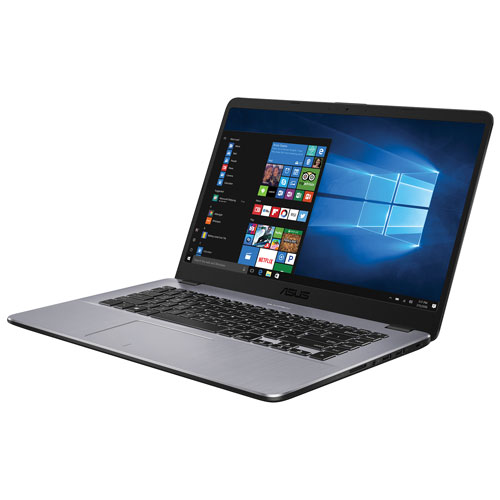 Portable 15,6 po d'ASUS - Gris foncé (bicoeur A9-9420 AMD/DD 1 To/RAM 8 Go/Windows 10)