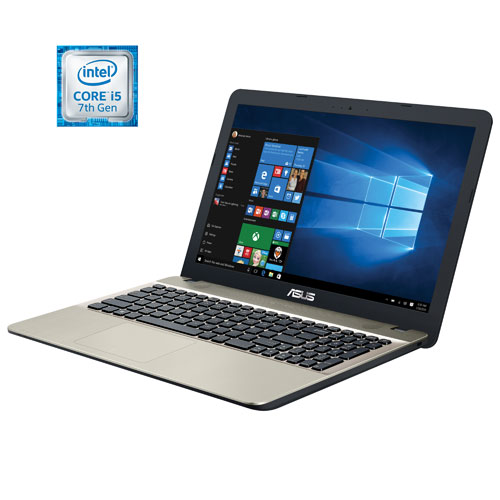 "ASUS VivoBook X541UA Slim 15.6"" Laptop - Chocolate Black/Gold (Intel Core i5-7200U/1TB HDD/8GB RAM)"