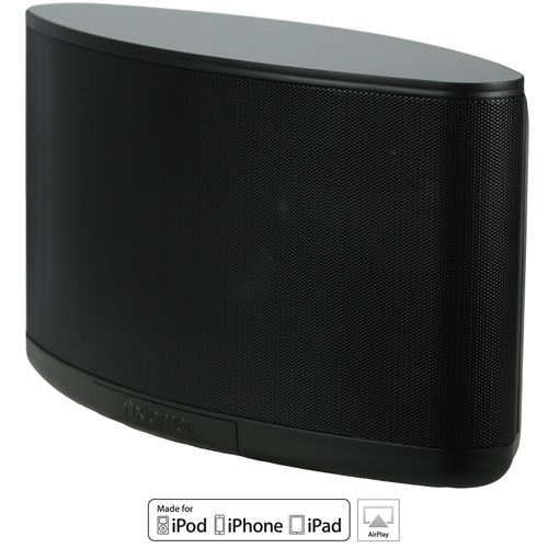 AxiomAir Portable Wireless Wifi Speaker - Black with Microphone Inputs and 9 Hour Battery