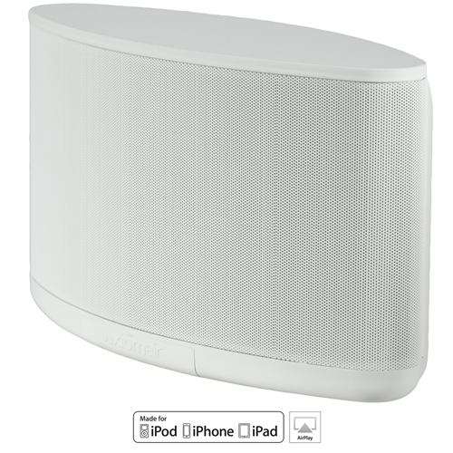 AxiomAir Portable Wireless Wifi Speaker - White with Microphone Inputs and 9 Hour Battery