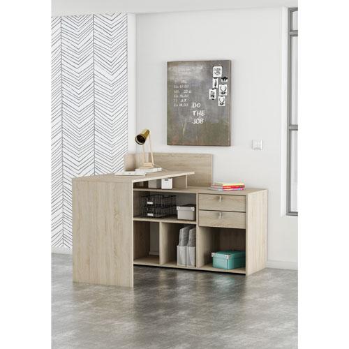 finest selection 731bd 896c5 Demeyere Vista Contemporary L-Shaped Corner Desk - Light Brown