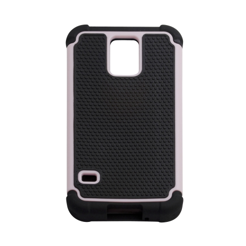 Rugged Impact Hybrid Hard Back Case Cover For Samsung Galaxy S5 - Baby Pink