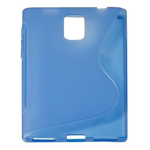 S Curve Gel Cover Case for Blackberry Passport Q30 - Blue