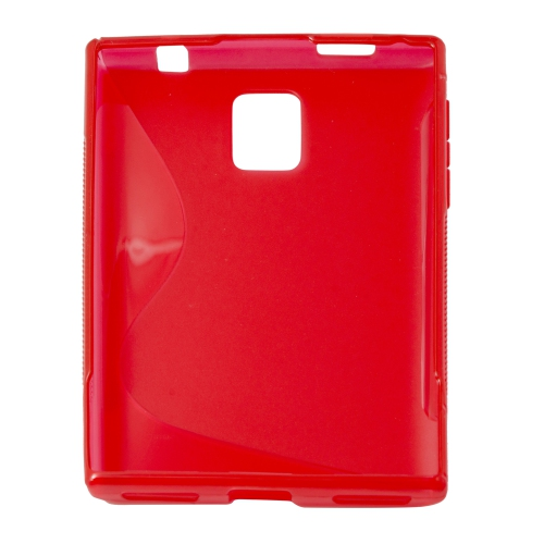 S Curve Gel Cover Case for Blackberry Passport Q30 - Red