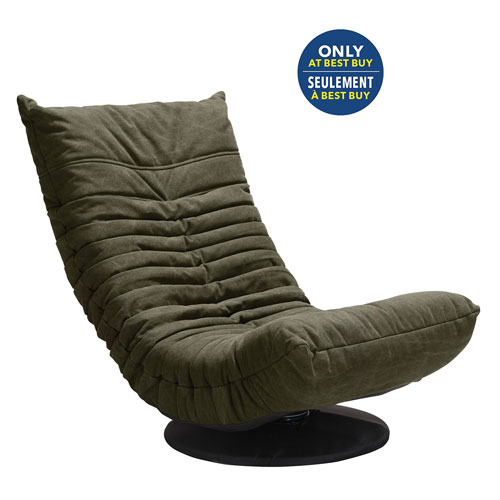 Down Low Modern Canvas Swivel Chair - Army Green - Only at Best Buy
