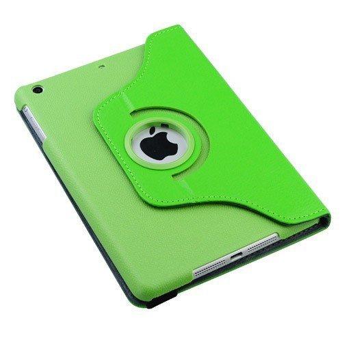 Étui pivotant vert pour iPad Mini 360 °/avec support intégré/ tablette iPad mini de 7,9 po/tourne et se tient sur les deux côtés/cuir PU