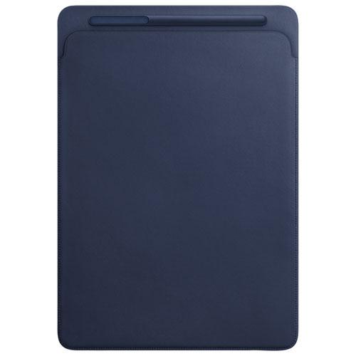"""Apple iPad Pro 12.9"""" Leather Sleeve - Midnight Blue"""