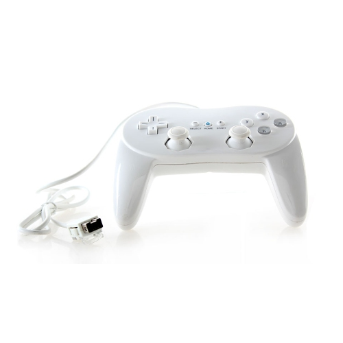 Generic Nintendo Wii Classic Controller Pro - White