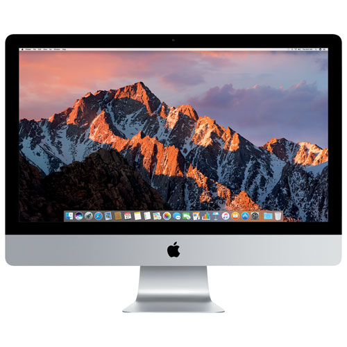 "Apple iMac (MNEA2C/A) 27"" Intel Core i5 Dual-Core 7th Gen 3.5GHz Computer - French"