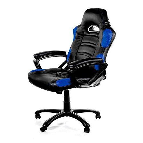 ViscoLogic Series TARCEL Gaming Racing Style Swivel Office Chair (Black & Blue)