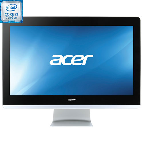 Ordinateur tout-en-un 21,5 po Aspire Z Acer - Arg (Ci3-7100T d'Intel/DD 1 To/RAM 6 Go/HD 6300 Intel)