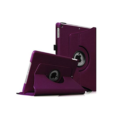 "Purple Ipad Mini 360° Rotating Case / With Built In Stand / 7.9"" Ipad Mini Tablet / Rotates & Stands On Two Sides / Pu Leather"