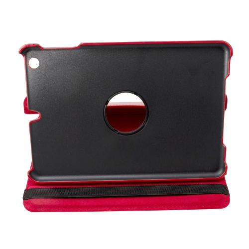 "Red Ipad Mini 360° Rotating Case / With Built In Stand / 7.9"" Ipad Mini Tablet / Rotates & Stands On Two Sides / Pu Leather"