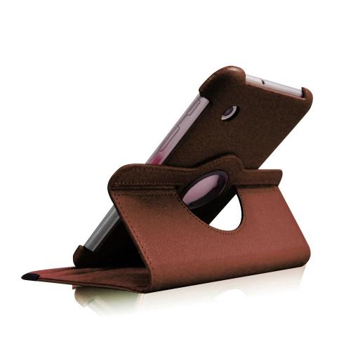 "Étui rotatif 360? pour Samsung Galaxy Tab 3 T310 8 "" - Marron"