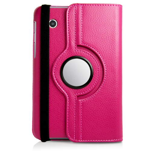 Samsung Galaxy Tab 3 T310 360° ROTATING CASE - HOT PINK 8""
