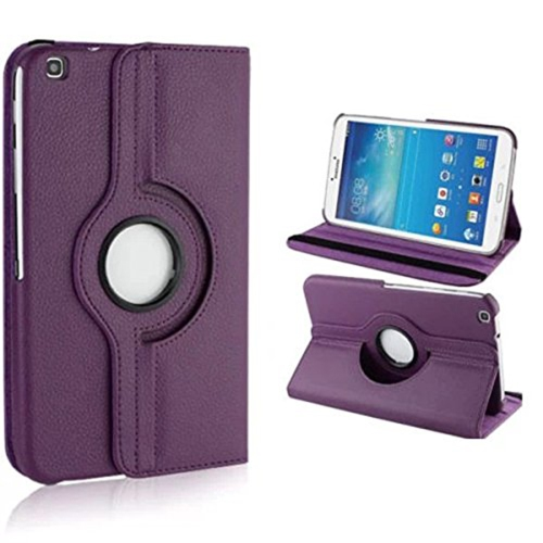 Samsung Galaxy Tab 3 T310 360° ROTATING CASE - PURPLE 8""