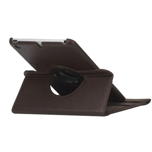 "Dark Brown Ipad Mini 360° Rotating Case /With Built In Stand/7.9"" Ipad Mini Tablet/Rotates & Stands On Two Sides / Pu Leather"