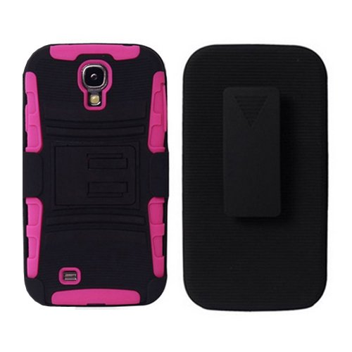Samsung Galaxy S4 Extreme Rugged Impact Hard Case Holster - Hot Pink