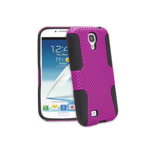 Esource Parts Fitted Hard Shell Case for Samsung Galaxy S4 - Hot Pink