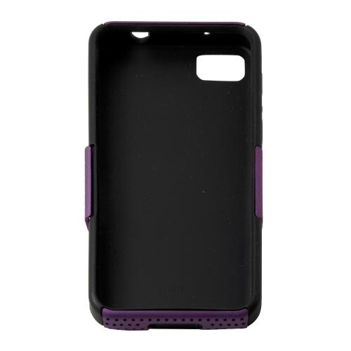 Mesh + Rubber Case for Blackberry Z10 - Purple