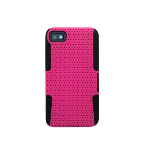 Esource Parts Fitted Soft Shell Case for Blackberry Z10 - Hot Pink
