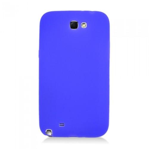 Soft Silicone Skin Gel Case for Samsung Galaxy Note 2 - Blue