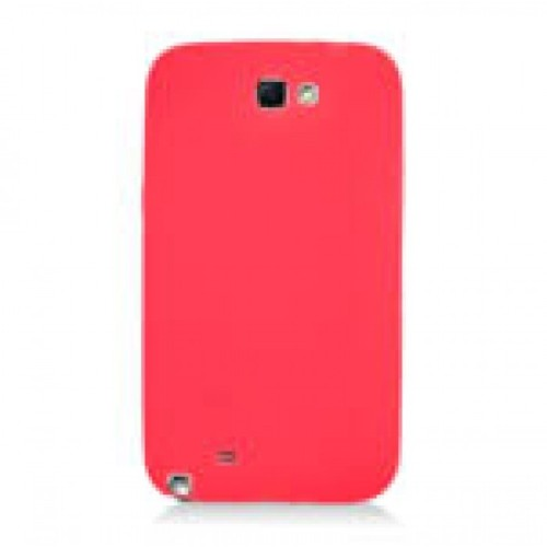 Soft Silicone Skin Gel Case for Samsung Galaxy Note 2 - Red