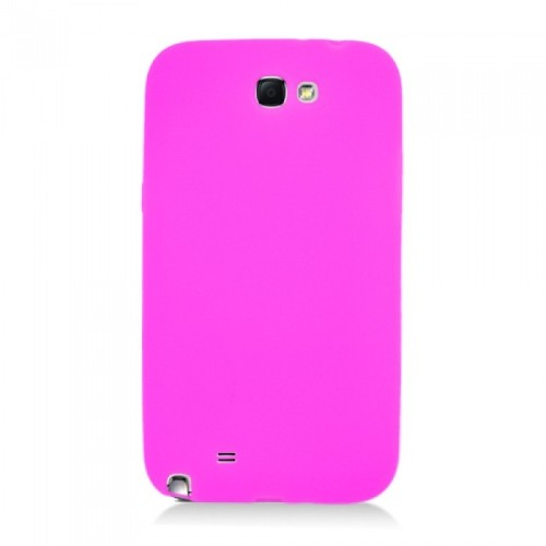 Soft Silicone Skin Gel Case for Samsung Galaxy Note 2 -Hot Pink