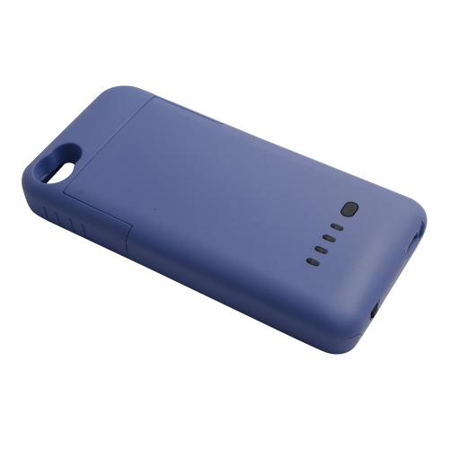 1900 mAh External Backup Battery Case Power Pack Bank Extended for iPhone 4/4S - Blue