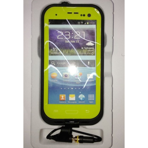 Coque multi-protection pour Samsung Galaxy S4 – Jaune