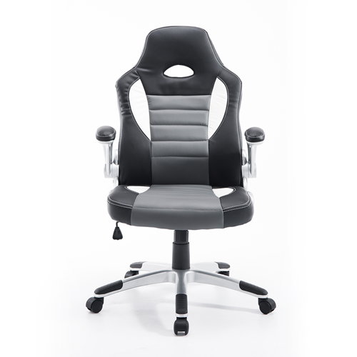 HOMCOM Racing Car Office Chair with Adjustable Armrest Grey