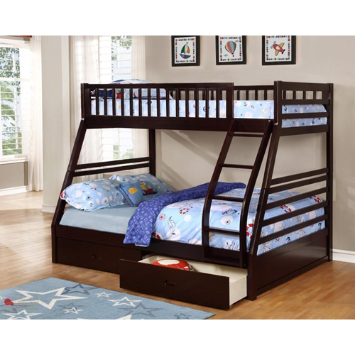 True Contemporary Fraser Espresso Twin Over Full Transitional Bunk