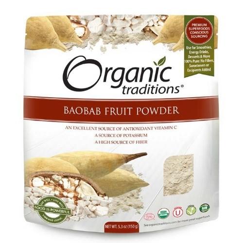 organic traditions baobab fruit powder energy boosting