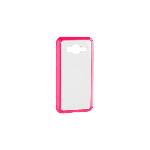 Samsung Galaxy J3 Xqisit Clear/Pink iPlate Odet Case