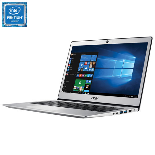 "Acer 13.3"" Laptop - Silver (Intel Pentium N4200/64GB eMMC/4GB RAM/Windows 10)"
